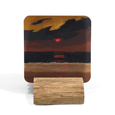 Kyffin Williams 'Sunset Over Anglesey' coaster