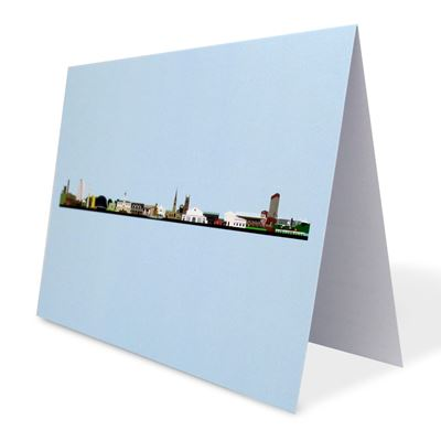 Leicester Skyline greetings card