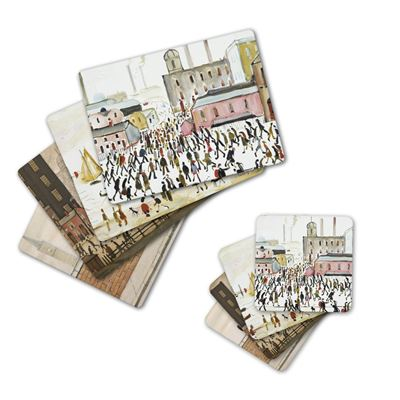 L. S. Lowry coasters and placemats – six-piece set