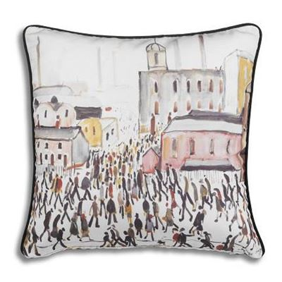 L. S. Lowry 'Going to Work' (1959) cushion cover