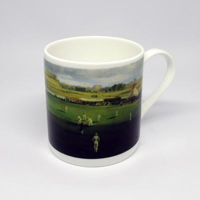 Samuel Bough 'Cricket Match' china mug