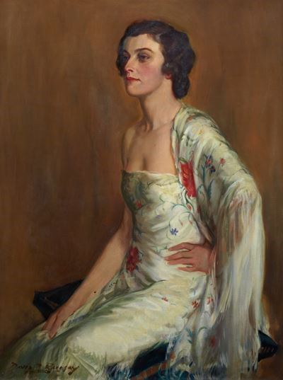 A Lady with a Shawl (Miss Betty Cautley)
