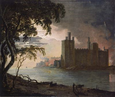 Caernarvon Castle by Moonlight