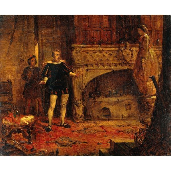 Scene from Sir Walter Scott's 'Anne of Geierstein'